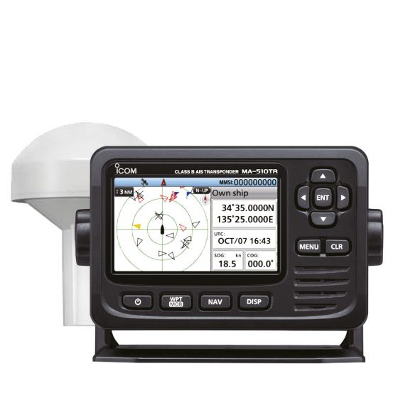 Icom MA-510TR Class B AIS Transponder & GPS Antenna
